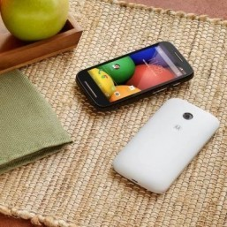The Moto E Moto E is aimed at consumers making the step up from a feature phone to a smartphone. ©Motorola