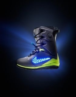 Nike's new LED-adorned snowboots light up the slopes
