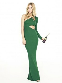 Rosie Huntington-Whiteley poses in green for Coca-Cola Life