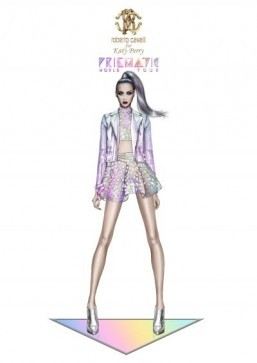 Official pix: Roberto Cavalli tour costumes for Katy Perry