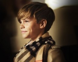 Romeo Beckham returns for Burberry