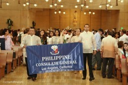 PHL Consulate takes part in 12th Santacruzan at the Cathedral of Our Lady of Angels