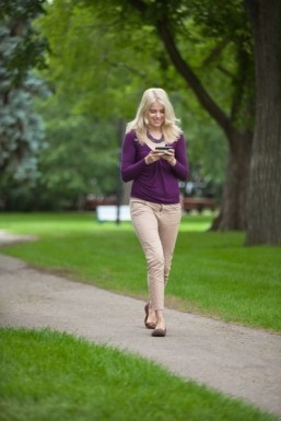 Texting while walking impairs stride, poses risks: study