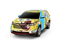 Toyota Highlander: a one-off SpongeBob concept