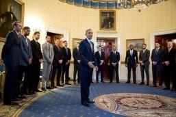 Obama toasts, teases NBA champion Spurs