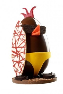 Luxury Easter collections include $1,000 chocolate pirate tableau and surfing eggs