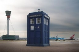 Heathrow airport fetes 50th anniversary of 'Doctor Who'