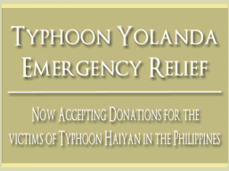 Donations for typhoon victims in the Philippines